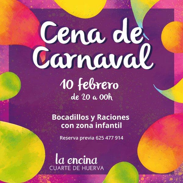 Cena de Carnaval 2018 en La Encina Restaurantes